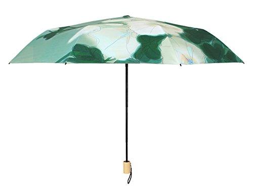 Wjcgx ombrello farfalla stampa nazionale vento nero ombrello ombrellone ombrellone
