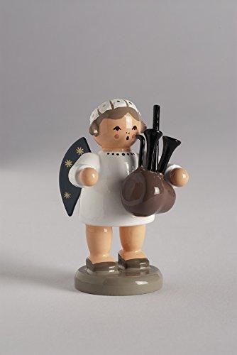 Engel Engel mit Dudelsack 5 cm NEU Holzengel Deko Figur Erzgebirge