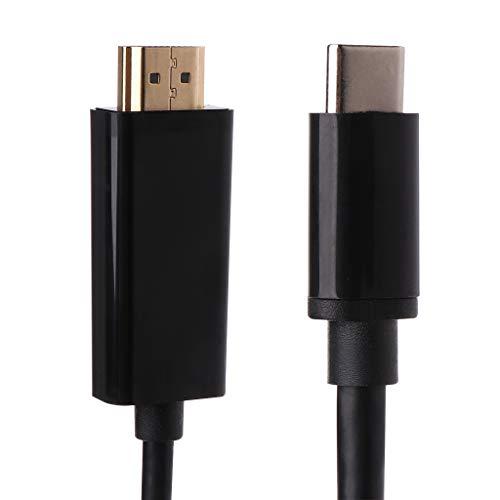 p C auf HDMI Video Audio Adapter Konverter Kabel für MacBook Samsung Handys Projektoren Zubehör - Weiß schwarz ()