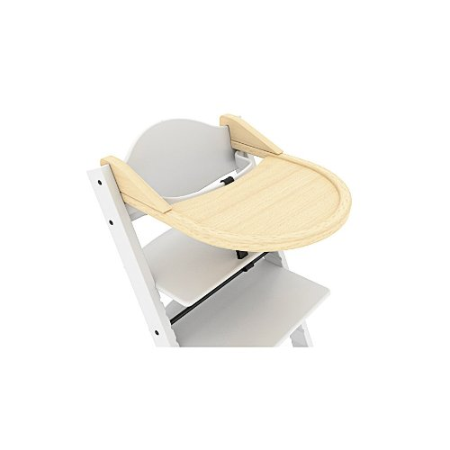Hochstuhl Spieltisch (Treppy 1003 ein zusätzlicher Schreibtisch zum Kinderstuhl, Playtray Natur, braun)