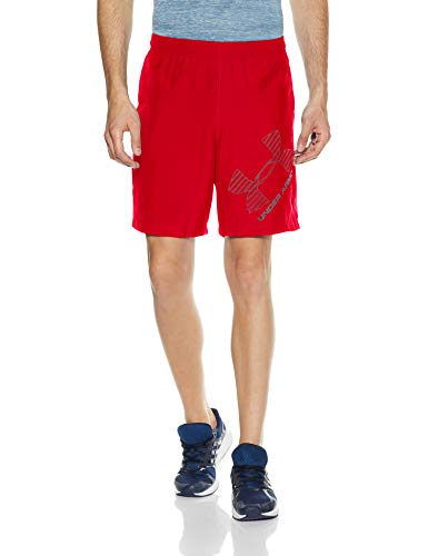 Under Armour UA 8 Woven Graphic Short, Pantaloncino Uomo, Rosso (Red/Graphite 600), M