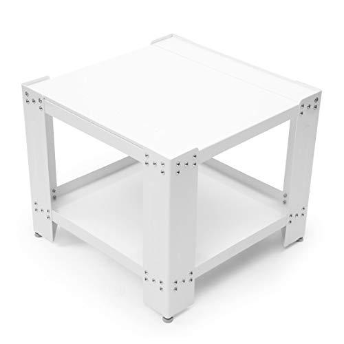 Xavax Waschmaschinen Unterbau / Unterschrank I Untergestell mit 50cm Höhe I Unterbau Sockel 60x60cm I mit höhenverstellbaren Füßen und Ablagefach