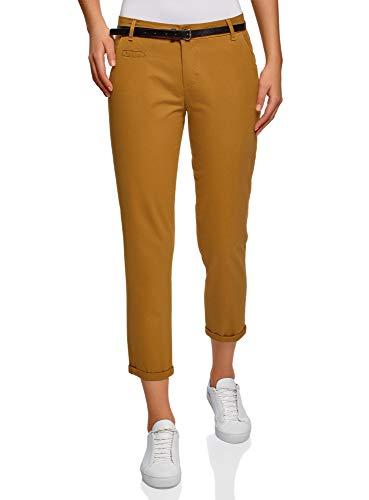 Pantalones chinos amarillo mostaza para mujer