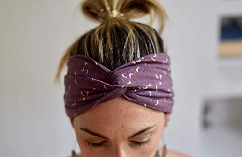 Moon Purple Stirnband Turban Haarband für dame