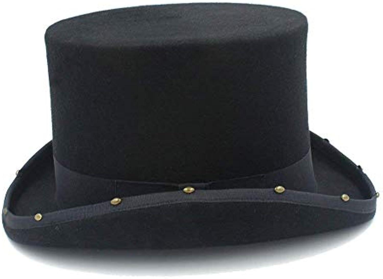 BAOJU Home Cappello - Cappello a Cilindro 15CM Cappello Steampunk a Rivetto  a Steampunk Mano Cappellaio 6b6995114cb2
