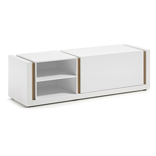 Kave Home Meuble TV DE 140 cm Blanc