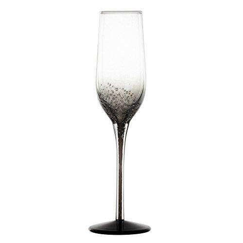 Novastyl 8012968.0 Flute à Champagne Verre Oxygène Gris 14,6 x 7,4 x 25,2 cm 18 cl Lot de 2