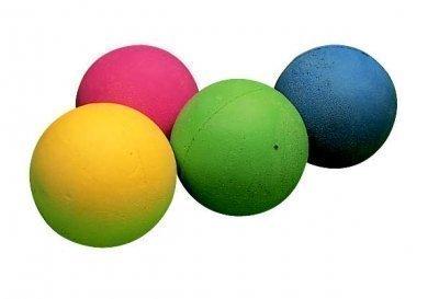 Balle en mousse pour enfants, jeu à lancer et à attraper en caoutchouc souple, balle de jeu en éponge , bleu, taille unique