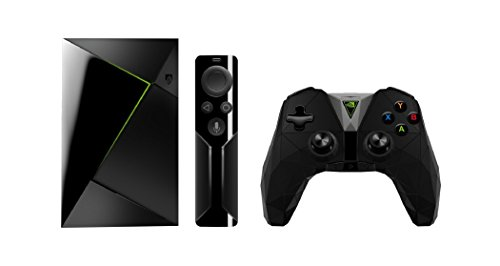Nvidia Shield TV - Reproductor de streaming para jugadores + Mando inalámbrico, resolución 4K HDR, memoria interna de 16 GB, 3 GB de RAM, Android 7.0, negro