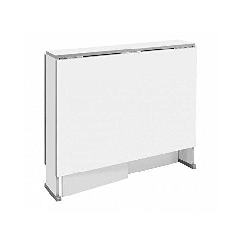 Mesa cocina plegable con dos alas en color blanco