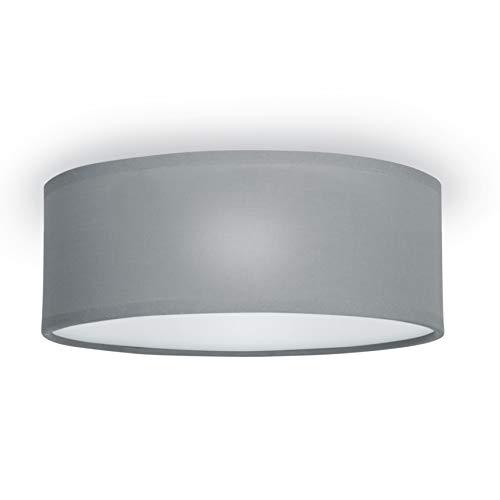 Stoff extern dimmbar DESIGN Deckenlampe Rund Ø40 cm mit Textilschirm schwarz