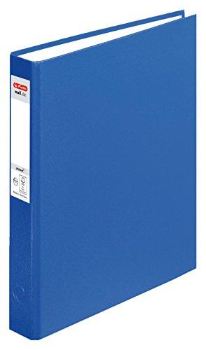 Herlitz Ringbuch maX.file pRotect A5, 1 Stück, 2-Ring-Kombi-Mechanik, 25 mm Füllhöhe, blau