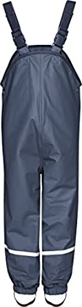 Playshoes Fleece-Regen-Latzhose 408622 Unisex - Kinder Hosen/ Lang, Gr. 80 Blau (marine 11)