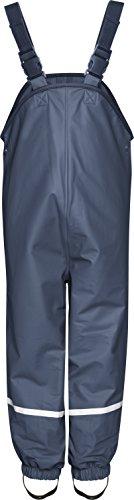 Playshoes Fleece-Regen-Latzhose 408622 Unisex - Kinder Hosen/ Lang, Gr. 140 Blau (marine 11)