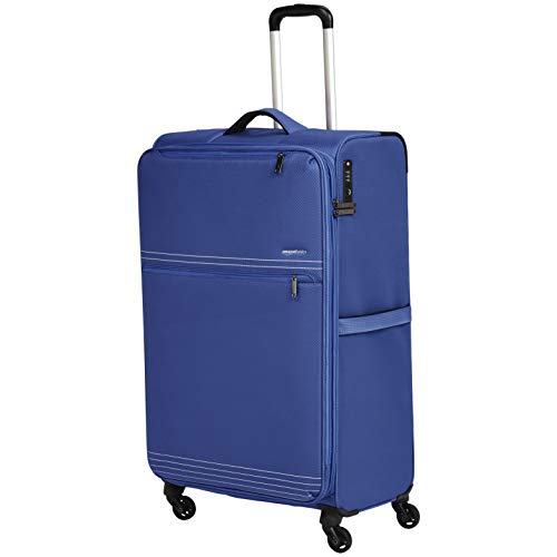 Amazonbasics - trolley da viaggio morbido e leggero, 81 cm, blu