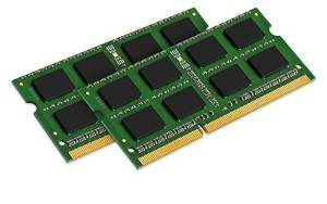 "Kingston 8GB (2 x 4 GB) Kit DDR3 SO-DIMM PC3-10600 1333Mhz CL9, 204-pin Unbuffered ""Single Rank"" 1,5V Non-ECC (Apple Notebook Laptop Arbeitsspeicher RAM Memory)"