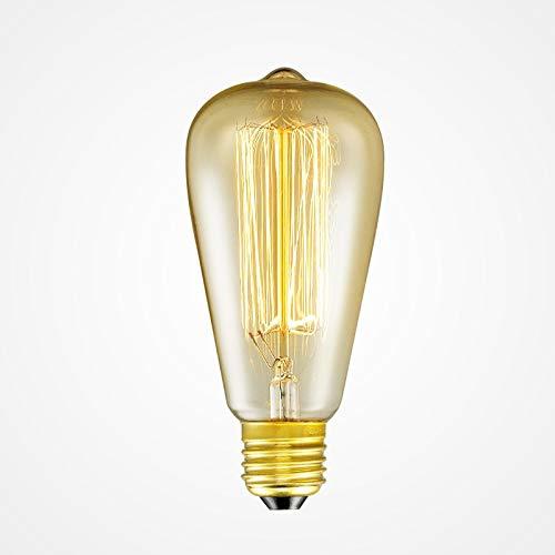 glow Glühlampen St64 Leuchtmittel E26 / 27 Basis 120 V / 220 V Glühlampen 40 Watt Warme Glühbirne Für Zuhause Pendelleuchte Dezember -