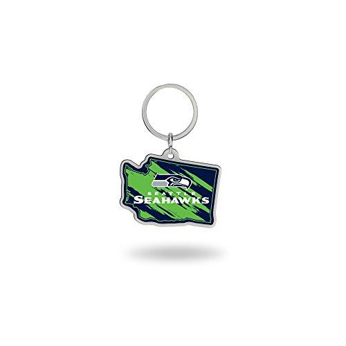 Rico NFL State Shape Schlüsselanhänger, State Shape Keychain, College Navy, 2