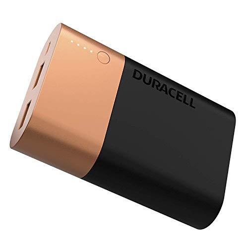 Duracell Powerbank 10050 mAh, Caricatore Esterno Rapido per Batterie di Smartphone e Dispositivi USB, Compatibile con iPhone e Samsung