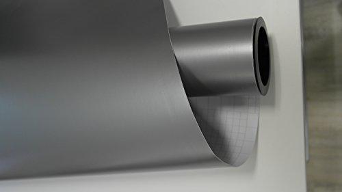 vinie Silber Grau Matt Autofolie 500x152cm Blasenfrei mit Luftkanäle Gratis Montageanleitung 5,39€/1qm