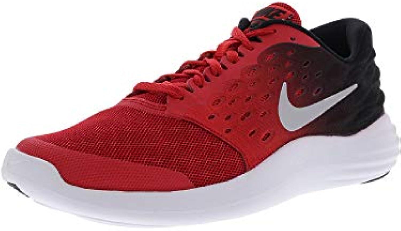 Nike Lunarstelos (GS) - Scarpe da Corsa, Uomo, Coloreee Rosso (University rosso Metallic argento-nero), Taglia 38 | Nuove varietà sono introdotte  | Gentiluomo/Signora Scarpa