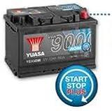 Yuasa YBX9115 Batería de coche AGM Start Stop Plus 12V 80Ah 800A