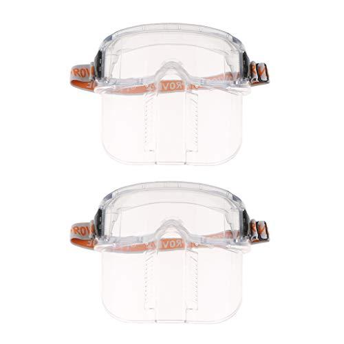F Fityle 2 Stücke Gesichtsmaske Gesichtsgitter aus Kunststoff Klare Gesichtsschirm Maske Brille Augenschutz, Tragbar und leicht