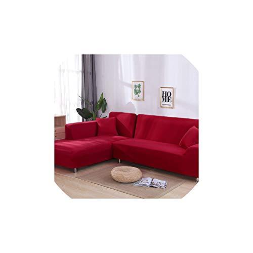 Black-Sky L-förmige Sofa-Abdeckung Elastic Blue Sofa Abdeckungen für Wohnzimmer Couch Decken Sofa...
