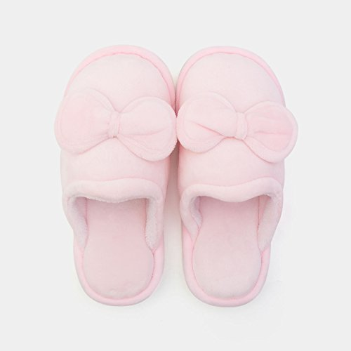 DogHaccd pantofole,Home paio di pantofole di cotone femmina spessa invernale Caldo sweet home interno gancio,La nuda rosaLa nuda rosa La nuda rosa2