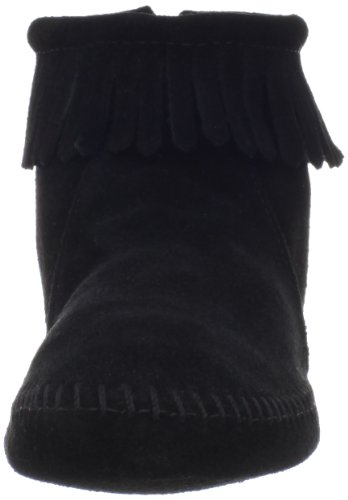 Minnetonka Back Zipper Boot 289, Damen Stiefel Softsole Black