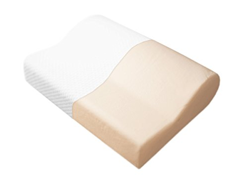 Dormiluna Ergo Basic Nackenstützkissen | Kopfkissen aus punktelastischem Visco-Schaum / Memory-Schaum | Geeignet als Rückenschläfer-Kissen und Seitenschläfer-Kissen | Entlastet Nacken- und Schultermuskulatur | 30 x 48 x 7 / 10 cm
