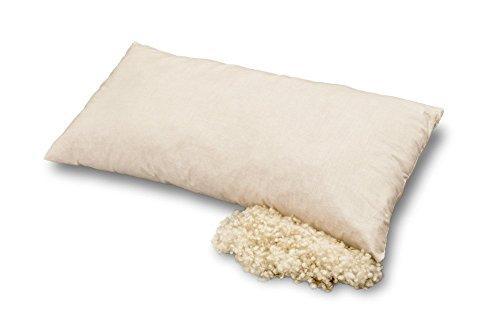 Kopfkissen aus Bio-Baumwolle und Bio-Schurwolle, Baumberger, Kissengröße:40x80