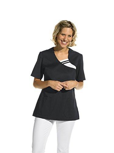 Damen Kasack Schlupfkjacke halbarm (XL, schwarz)