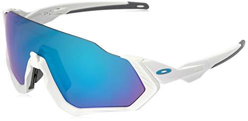 Oakley Herren Sonnenbrille Flight Jacket, Weiß (Blanco)