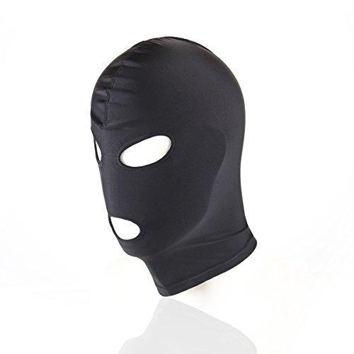 Kopfmaske SM Bondage-Maske Fetisch-Maske Spandex Stoffmaske BDSM (3-Loch Öffnung) -