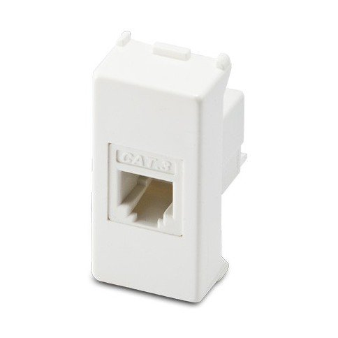 takestop Stecker Modul 4Telefonnetz Plug Lan RJ11CAT3Cat 3weiß Material Elektro