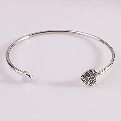 FANMURAN Yolandabecool Women Crystal Bangle Cuff Bracelet Wedding Proposal Jewelry T Style : everything £5 (or less!)