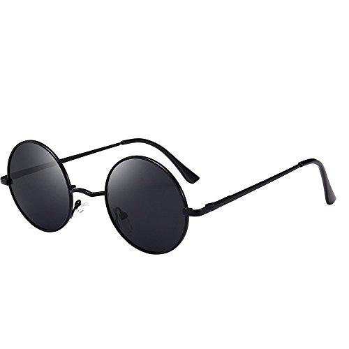 Retro Vintage Sonnenbrille, polarisiert mit rundem Metallrahmen, für Frauen und Männer By Vovotrade (A)