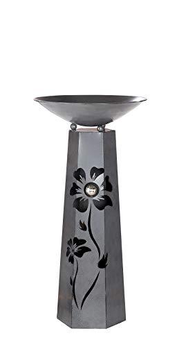 G.i.l.d.e Schalenständer m. Schale Blüte Metall antik grau