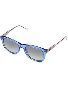 Tommy Hilfiger Unisex-Erwachsene Sonnenbrille TH 1501/S 9O, Schwarz (Azure), 49
