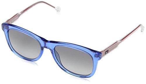 Tommy hilfiger th 1501/s 9o mvu 49, occhiali da sole unisex-bambini, turchese (azure/dark grey sf)