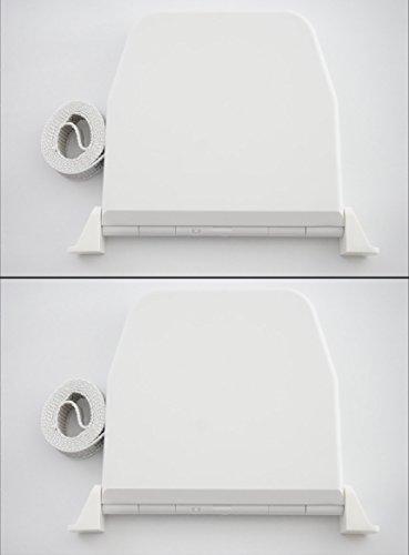 er Aufputz mit Scharniersystem Farbe Weiß mit 5m Gurt 14mm Breite ()