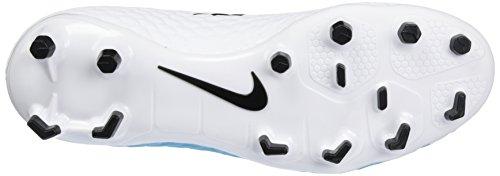 Nike Hypervenom Phelon Iii Fg, Chaussures de Football Homme Bleu (White/black-photo Blue-chlorine Blue)