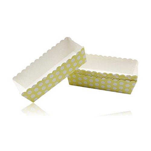 Pastell Polka Dot Design Snack Boxen in Karte-Gelb X16