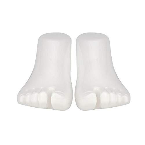 Rosvola Weibliche Schaufensterpuppe Füße, 1 Paar Socken Schuhe Schmuck Display Fuß Links & Rechts Set, Fuß/Strumpfwaren/Sox/Schmuck Display(Adult-Weiß)