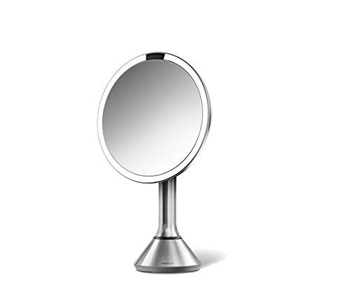 Sensor-Espejo-Simplehuman-20-cm-Acero-Inoxidable-recargable-Sensor-Espejo-con-5-aumentos