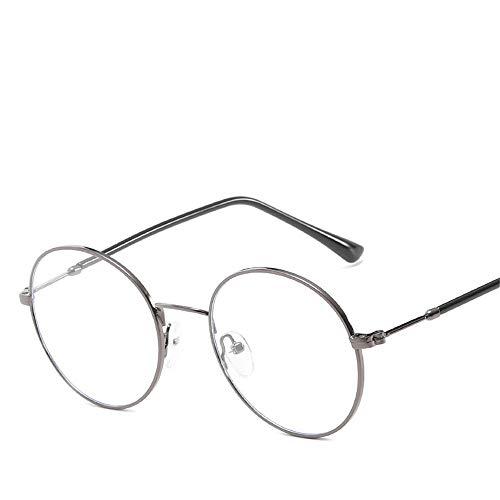 Flache runde Metallbox-Gläser unabhängige Nase sie literarische Blu-ray Männer und Frauen LUE Schattierungsgläser für Studenten Brille