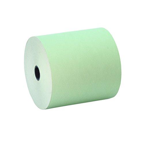 10 Rollos 80x80 Papel Térmico Color Verde