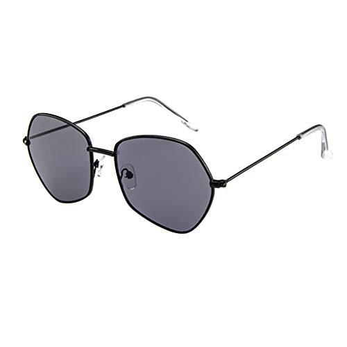 EUCoo Sonnenbrille Mode Flacher PersöNlichkeit UnregelmäßIgen Metallrahmen Sonnenbrille Brille (B)