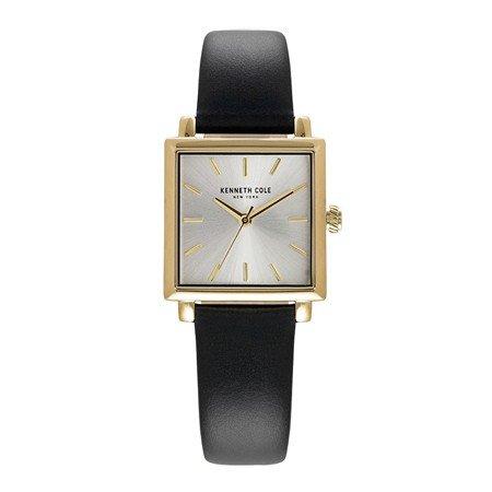 Kenneth Cole New York orologio al quarzo in acciaio INOX e pelle casual da donna, colore: Nero KC15175002